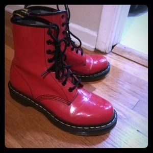 Dr. Martens Satchel Red smooth leather 1460W boots